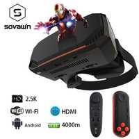 2 K VR 3D gafas de realidad Virtual de gafas casco todo en un auricular VR RK3288 2560*1440 p IPS 5,5