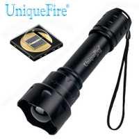 UniqueFire T20 IR 940nm 1/3 Modo de LED de la visión nocturna de la linterna de luz infrarroja ajustable Zoomable táctico 38mm de la lente convexa de la antorcha