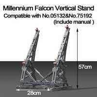 MOC del Halcón Vertical pantalla soporte Compatible con n ° 05132 y N ° 75192 último coleccionista modelo con Manual de papel