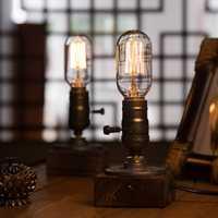OYGROUP lámpara de mesa de madera moderno romántico regulable lámpara de escritorio casa romántica Lámpara de lectura luz de la Oficina para el estudio # OY16T10
