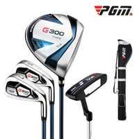 Crestgolf G300 palos de Golf de los hombres Set --- 1 Golf pistola bolsa, 1 # conductor, 7 # hierro, arena cuña y Putter