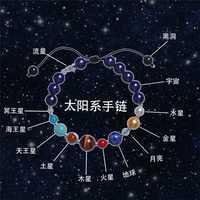 Jing Sistema Solar pulsera nueve planetas vacía Handrope de DoubleTreasure estrella cielo los amantes pulsera de los Amantes regalo