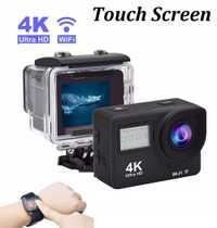 Pantalla táctil Ultra HD 4 K WiFi Cámara 2,0 pantalla Dual cámara de vídeo Digital de 30 m impermeable Control remoto Camcorder