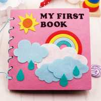 Montessori educación temprana bebé libro jardín casero Foto Libro de bricolaje niños Kit de Material de Agujas Para Fieltro