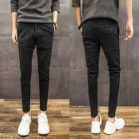 Invierno pantalones casuales de los hombres slim, pantalones de pies de la versión coreana de la tendencia de los hombres de auto-cultivo micro -elástico de los hombres pantalones gruesos