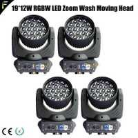 19x12 W Quad RGBW 4in1 llevó Gran Zoom in/out cabeza móvil Wash luz DMX DJ Disco club Zoom lavado etapa lineal Dimmer viga