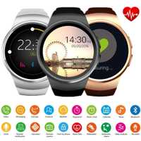 AKASO nuevo KingWear KW18 Bluetooth inteligente del teléfono del reloj Pantalla Completa KW18 Smartwatch corazón para Android ios soporte tarjeta SIM TF