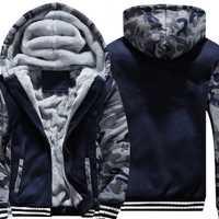 Sudaderas con capucha súper cálidas de talla US/EU para hombre invierno gruesas chaquetas de lana para hombre Casual Zip up Sudadera con capucha para adultos