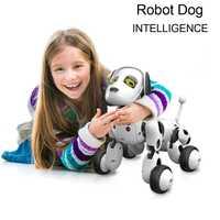 Nuevos artículos 2018 RC inteligente perro cantar danza caminar Control remoto Robot perro electrónico de mascotas juguetes para niños regalo de cumpleaños b2