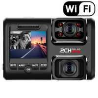 Pruveeo D30H 4K WiFi Dash Cam con visión nocturna infrarroja, doble 1080P frontal y interior, coche dvr para coches camión impuesto