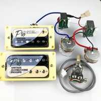 1 Unidades juego LP ProBucker estándar Alnico guitarra eléctrica zebra Humbucker pastillas con arnés de cableado profesional para EPIC
