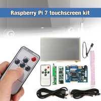Unidades 1 juego Raspberry Pi 7 pulgadas Raspberry Pi LCD pantalla táctil HDMI HD 600x1024 táctil LCD Placa de controlador con línea de Cable USB