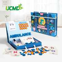 Juegos de letras del alfabeto magnéticas para aprender inglés palabras de vista puzles juego de letras del alfabeto magnéticas de Aprendizaje Temprano juguetes educativos para niños regalos