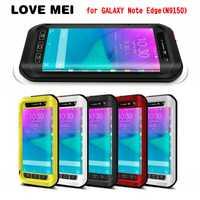 Fundas de aluminio de Metal resistente a la suciedad de lujo LOVEMEI para Samsung Galaxy Note Edge N9150 protección de alta resistencia los casos
