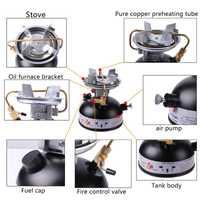 Mini gasolina estufa de Camping estufa aceite quemadores de combustible Picnic estufa de cocina quemadores No ruido al aire libre de utensilios de cocina