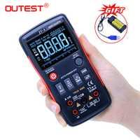 ZT-X multímetro Digital Transistor multimetro de rm esr medidor eléctrico verdadero RMS 409b Volt Amp Ohm Tester multimetr