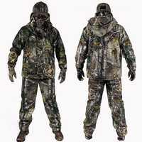 Vêtements de Camouflage d'hiver bionique en plein air pour hommes vêtements de chasse costumes de chasse d'hiver avec costume Ghillie en molleton