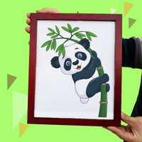 Cadre Panda tours de magie en peluche Panda jouet apparaissant du conseil Magia magicien scène fête Gimmick accessoires Illusion mentalisme