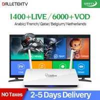 Leadcool QHDTV IPTV Caja 1 Año de Suscripción Europa Italia Francés 1300 Canales Dalletektv Android 6.0 TV Box IPTV Árabe Superior caja
