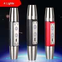 Cuatro luces USB recargable detectar Jade linterna 395NM luz 365nm antorcha para joyería
