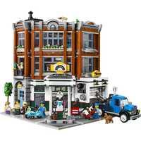 En Stock 15042 2569Ps coin Garage ville rue vue créateur série blocs de construction compatibles avec Bela