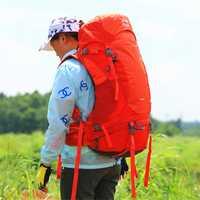 50L impermeable escalada senderismo mochila cubierta de lluvia bolsa Camping montañismo mochila deporte al aire libre bicicleta bolsa de viaje deporte equipo