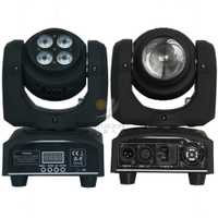Doble cara 4x10 W Led rgbw con 1x10 W rgbw beam wash Moving Head Light para dj party luces