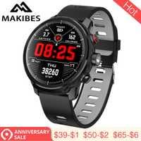 3,28 Makibes L5 relojes inteligentes en espera para 100 días IP68 impermeable clima Smartwatch iluminación Led mensaje recordatorio de llamada