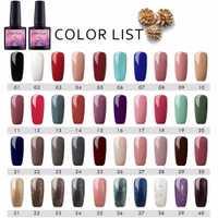 40 colores/juego permanente UV Gel esmalte de uñas para uñas arte de larga duración Gel esmalte laca colorido uñas barnices pedicura herramienta