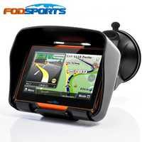 Fodsports actualizado 256 M RAM 8 GB Flash 4,3 pulgadas Moto GPS navegador impermeable Bluetooth motocicleta gps navegación para coche gratis mapas