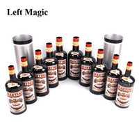 Multiplicando botellas de 10 botellas de negro (derramó líquido) truco de magia en el escenario accesorios cerca de Mentalismo ilusión juguete clásico
