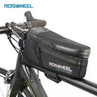 ROSWHEEL bicicletas marco superior bolsa tubo bolsa mochila ciclismo corrompiendo bolsillo MTB Carretera bici partes del ciclo cesta 121370