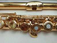 SUZUKI intermedio chapados en oro flauta profesional grabado Floral boquilla diseños C clave flautas 17 agujeros abiertos