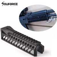 Nuevo 6,5 pulgadas Tactical Rail Gun sistema GripExtend Picatinny Rail Handguard para AK47 b10 visores caza tiro