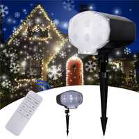 110 V enchufe de Navidad LED de luz láser Nevada proyector al aire libre IP65 impermeable dinámica copos de nieve etapa proyector de luz fiesta