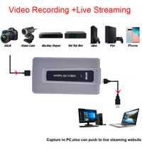 HDMI a USB 3,0 HD captura grabación Video conferencia teléfono juego Live Streaming para PS3 PS4 XBOX OBS Twitter Youtube hitbox Vmix