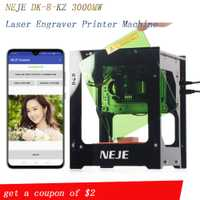NEJE 2019 vente chaude nouveau 3000 mw 445nm Ai laser graveur bois routeur bricolage bureau Laser Cutter imprimante graveur Machine de découpe