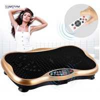 Machine de plaque de Vibration d'ajustement de puissance d'équipement de forme physique, plaque de Vibration d'exercice, masseur de corps de plaque de Vibration d'ajustement fou de Massage