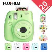 Nuevo Fujifilm InstaxMini 9 regalo gratis para cámara fotográfica instantánea Polaroid cámara fotográfica Cámara 5 colores sesión fotográfica instantánea