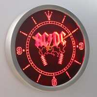 Nc0142 ACDC AC/DC Rock n Roll Bar cerveza signo de neón LED Reloj de pared