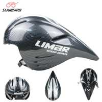 SLANIGIRO bicicleta ultraligero casco de una pieza moldeado de fibra de vidrio casco de ciclista Road Bike Cap cascos de carreras profesionales
