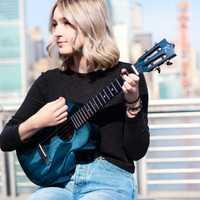 Kaka MAD ukulélé massif acajou noir bleu finition avec sac Enya ukeleles Hawaii 4 cordes guitare acoustique instruments de musique