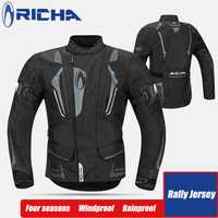 RICHA moto rcycle costume protection pad moto rcross costume hiver traje moto équitation veste pantalon combinaisons de protection moto ensembles