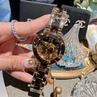 2019 nuevo reloj de lujo para mujer, relojes de vestir, relojes de cuarzo de fecha automática, relojes de pulsera de acero inoxidable para mujer