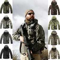 Deporte al aire libre Softshell TAD chaqueta táctico establece hombres de camuflaje ropa de caza militar abrigos Camping senderismo chaqueta con capucha