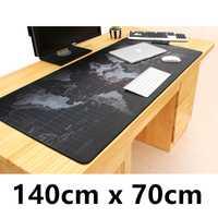 Alfombrilla de ratón de mapa del mundo de 140 cm x 70 cm, alfombrilla grande para escritorio, alfombrilla para teclado, alfombrilla de ratón, alfombrilla para juegos