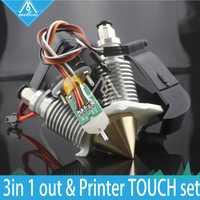 Suave 3D impresora de salida Hotend latón Multi Color boquilla caliente finales de 0,4mm/1,75mm para I3 extrusora fan + kit de nivelación automática de sensor