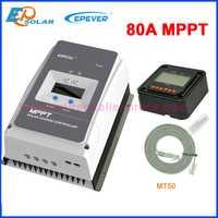 100% EPEVER MPPT 80A Tracer controlador de carga Solar para 12 V 24 V 36 V 48 V Litio ácido Max pv 150 V 200 V Tracer8415AN Tracer8420AN