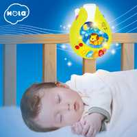 HOLA 818 bébé jouets pépinière lit Mobile avec berceuse musicale sons hochet rotatif loisirs sol lit cloche 0-12 mois