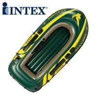 Genuino INTEX68347 2 personas Kayak remos inflable barco barco de pesca engrosamiento con paletas y bomba de aire